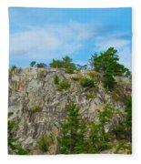 Northern Ontario Rock Face Fleece Blanket
