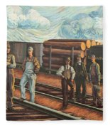 Northern Pacific Railway Fleece Blanket
