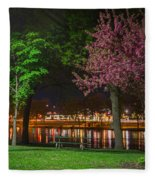 Northfield At Night Fleece Blanket