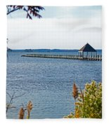 Northside Park Fishing Pier Fleece Blanket