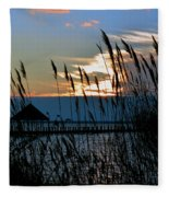 Ocean City Sunset At Northside Park Fleece Blanket