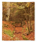 Northumberland, England  A Creek Fleece Blanket