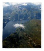 Norwegian Fjord From On High Fleece Blanket