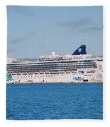 Norwegian Jade Cruise Ship Corfu Fleece Blanket