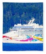 Norwegian Jewel Cruise Ship Fleece Blanket