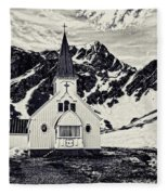 Norwegian Lutheran Church Grytviken Fleece Blanket