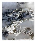 Norwegian Mountains From On High Fleece Blanket