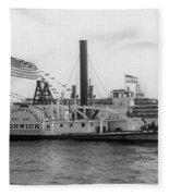 Norwich Steamboat, C1909 Fleece Blanket