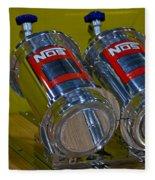 Nos Bottles In A Racing Truck Trunk Fleece Blanket