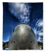 Nose Of A C-17 Fleece Blanket