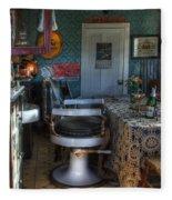 Nostalgia Barber Shop Fleece Blanket