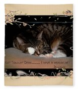 Not Tonight Dear... - Featured In Comfortable Art Group Fleece Blanket