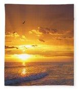 Not Yet - Sunset Art By Sharon Cummings Fleece Blanket