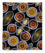 Not Your Mothers Button Box Fleece Blanket