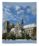Notre Dame Cathedral Fleece Blanket