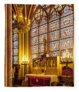 Notre Dame Chapel Fleece Blanket