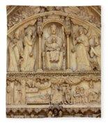 Notre Dame Detail Fleece Blanket