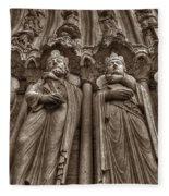 Notre Dame Facade Detail Fleece Blanket
