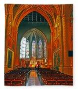 Notre Dame Of Luxembourg Fleece Blanket