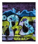 Nouveau Graffiti Fleece Blanket