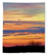 November Panorama Fleece Blanket