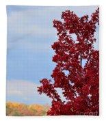 November Red Fleece Blanket