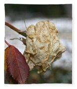 November Snow Rose Fleece Blanket