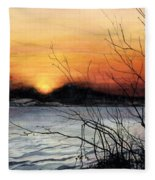 November Sunset Fleece Blanket