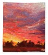 November Sunset  Fleece Blanket