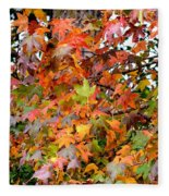 November's Maples Fleece Blanket