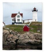 Nubble Lighthouse Cape Neddick Maine 4 Fleece Blanket