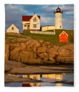 Nubble Lighthouse No 1 Fleece Blanket