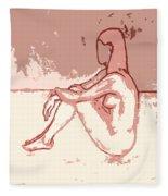 Nude 27 Fleece Blanket