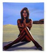 Nude Beach Beauty Fleece Blanket