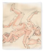 Nude Female Drawings 16 Fleece Blanket