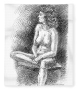 Nude Female Sketches 2 Fleece Blanket