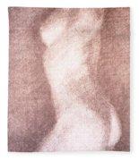 Nude Female Torso Drawings 3 Fleece Blanket