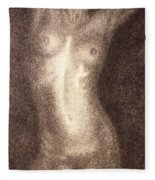 Nude Female Torso Drawings 5 Fleece Blanket