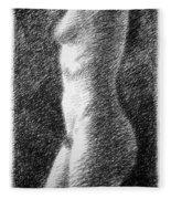 Nude Female Torso Drawings 6 Fleece Blanket