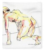 Nude Male Drawings 3w Fleece Blanket