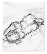 Nude Male Sketches 4 Fleece Blanket