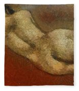 Nude On A Red Fleece Blanket