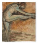 Nude Study For A Dancer At The Bar Fleece Blanket