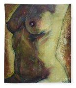 Nude Female Torso Fleece Blanket