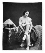 Nude Undressing, C1850 Fleece Blanket