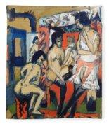 Nudes In Studio Fleece Blanket