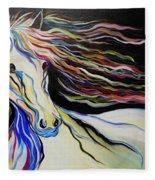 Nuella Horse With The White Shoulder Fleece Blanket