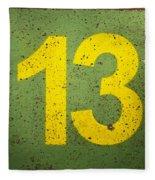 Number 13 Fleece Blanket