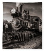 Number 4 Narrow Gauge Railroad Fleece Blanket