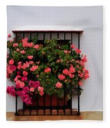 Number 9 - Geraniums In The Window Fleece Blanket